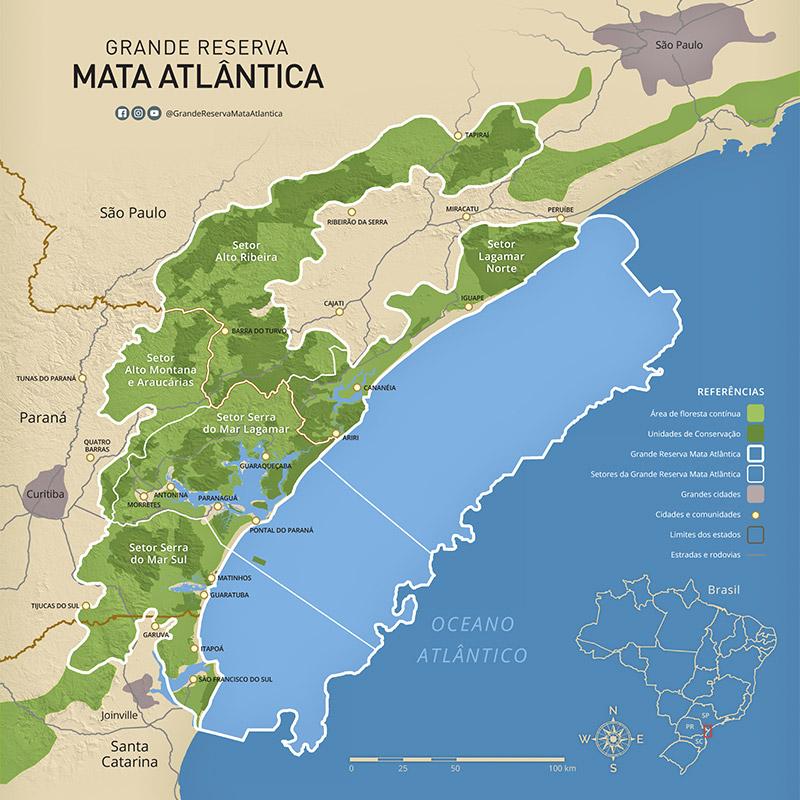 Mapa Grande Reserva Mata Atlântica